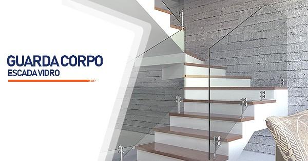 Guarda Corpo Escada Vidro  Ribeirão Preto