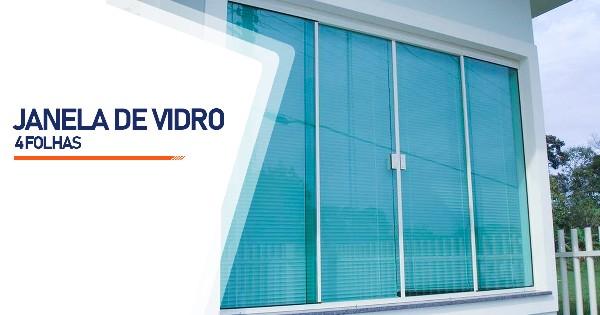Janela De Vidro 4 Folhas Ribeirão Preto