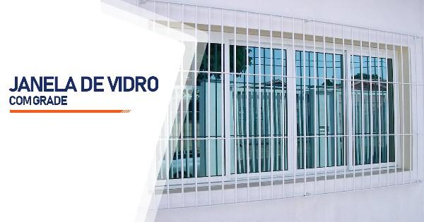 Janela De Vidro Com Grade Ribeirão Preto