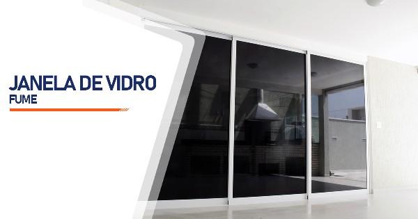 Janela De Vidro Temperado Fume Ribeirão Preto
